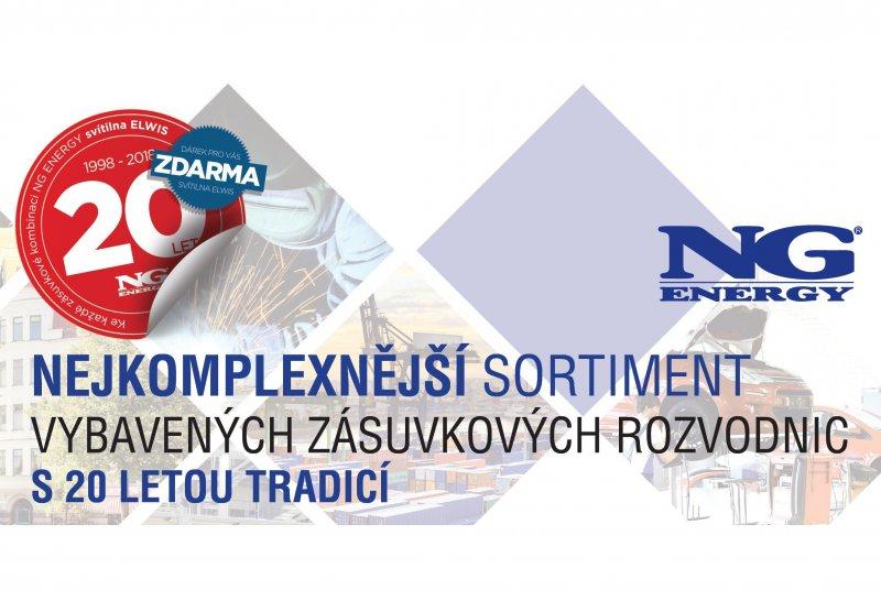 20 LET výrobní značky NG ENERGY