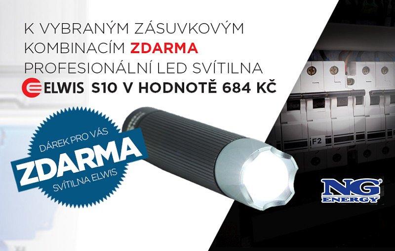 Akce NG ENERGY - k vybraným zásuvkovým kombinacím profesionální LED svítilna ZDARMA!